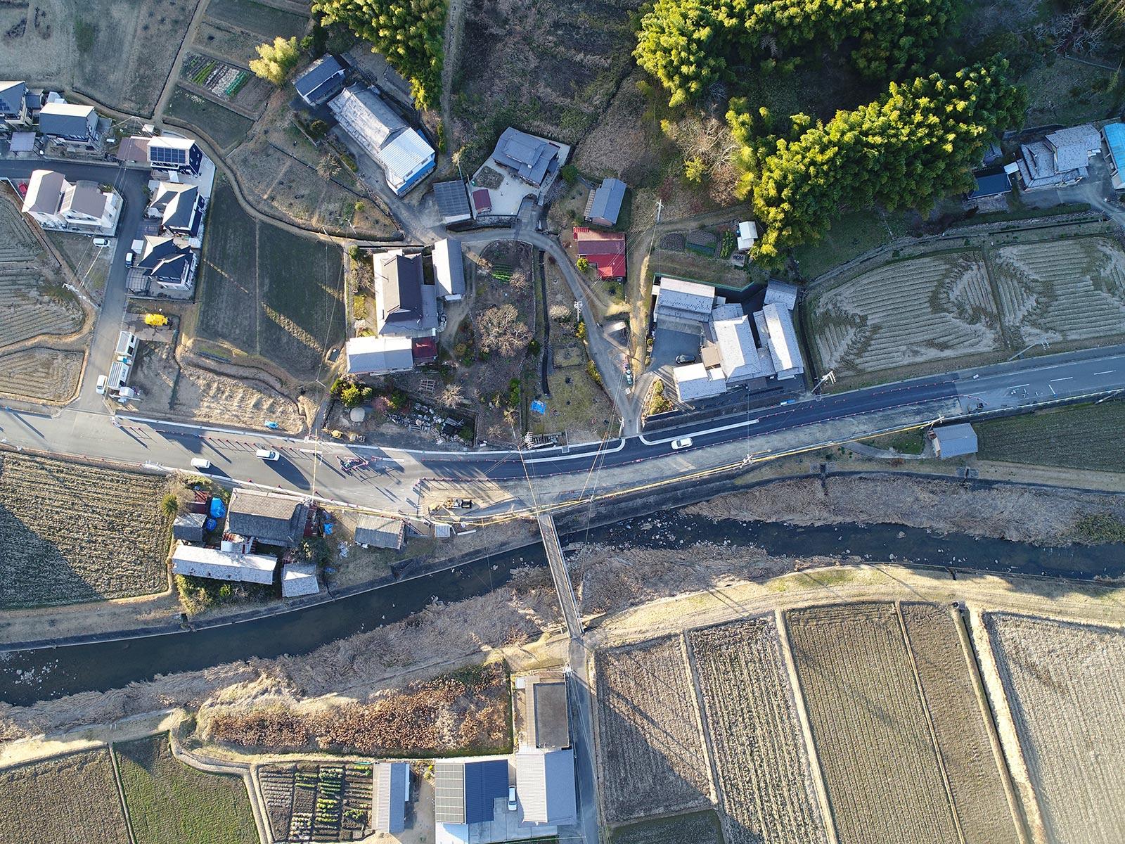 明世町地内県道改良工事着工前