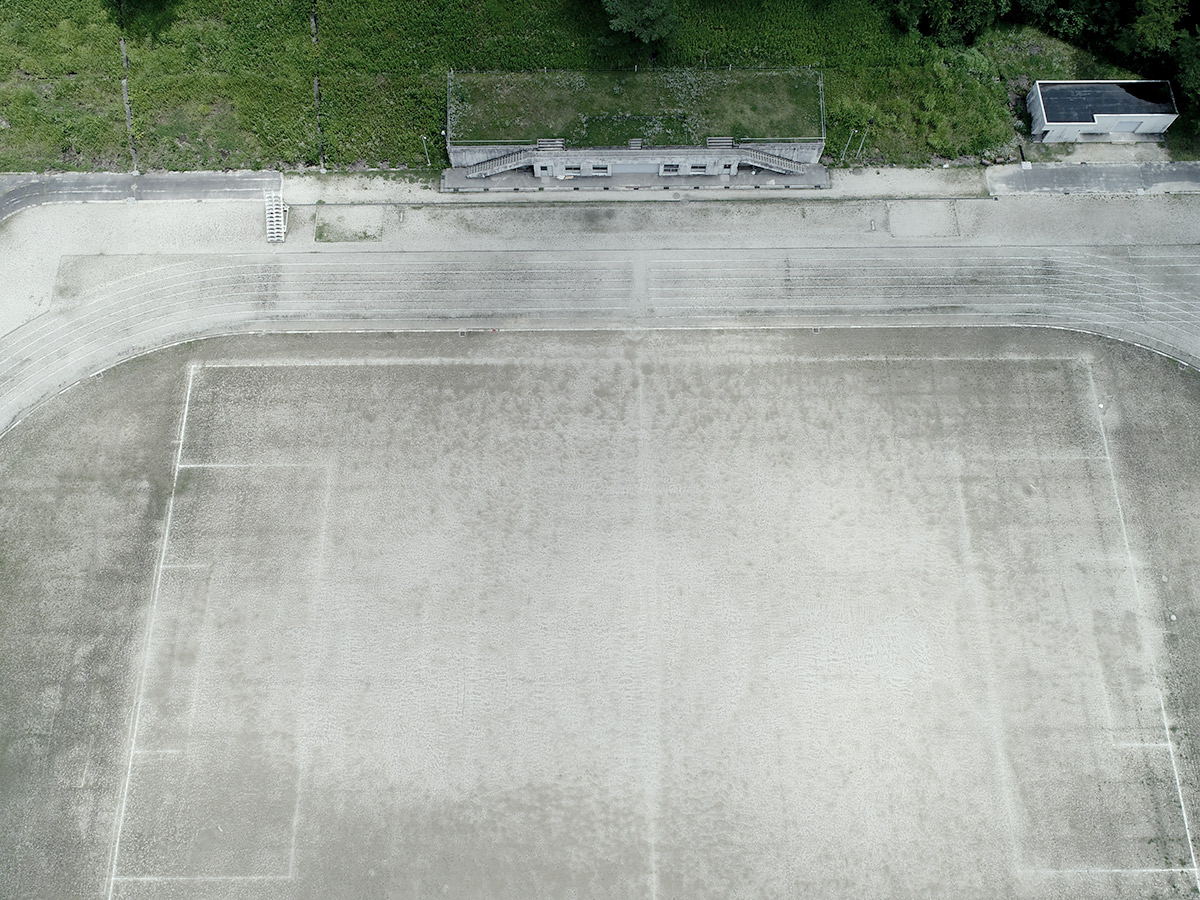 瑞浪市陸上競技場グラウンド改修工事着工前