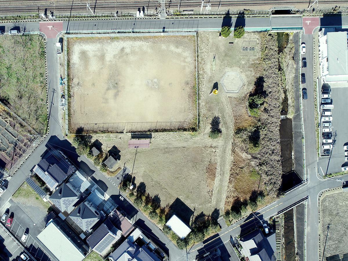 瑞浪市狭間川公園再整備工事着工前