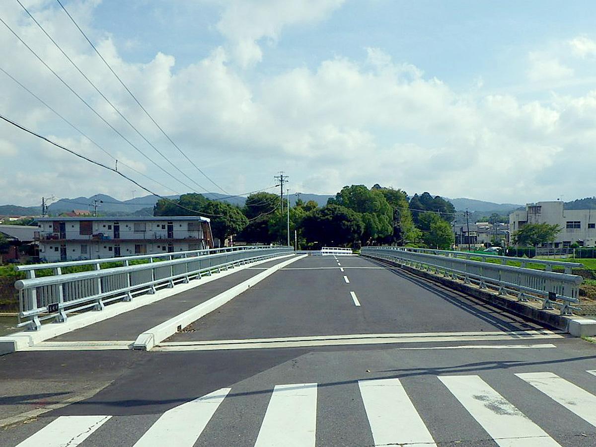 松ヶ瀬橋拡幅工事着工後