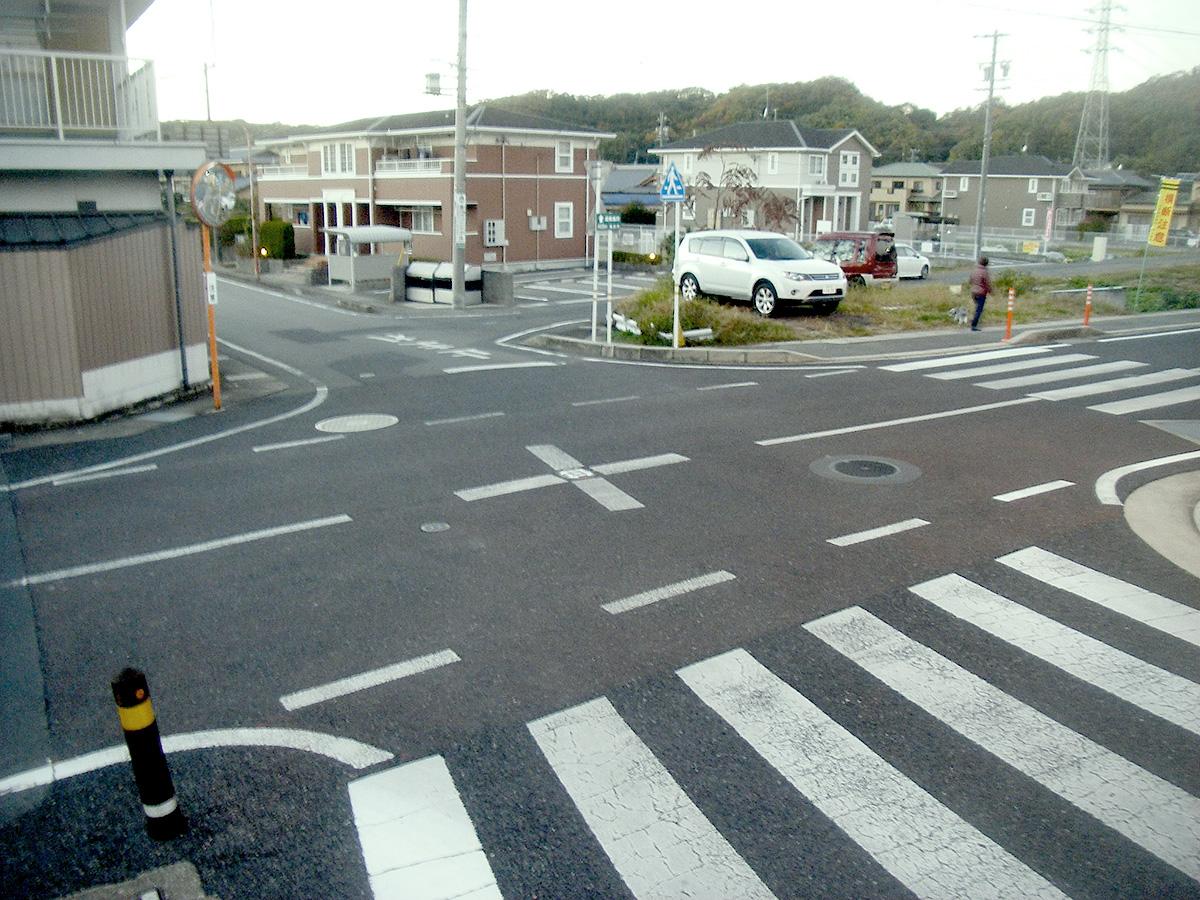 須野志町地内通学路カラー舗装工事着工前